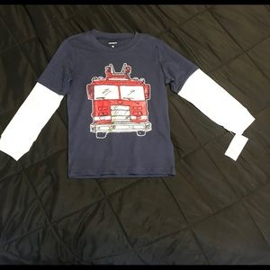 NWT Carters 4T long sleeve fire truck tee